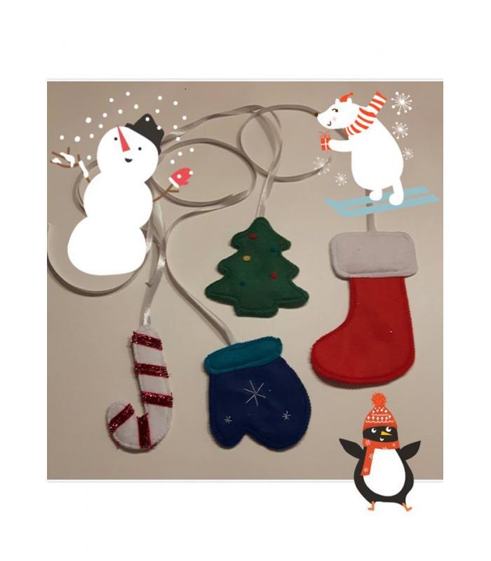Vilten slinger Kerst
