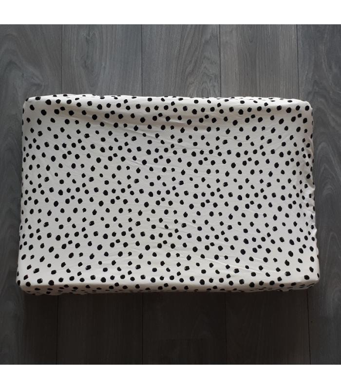 Aankleedkussenhoes Wit dots