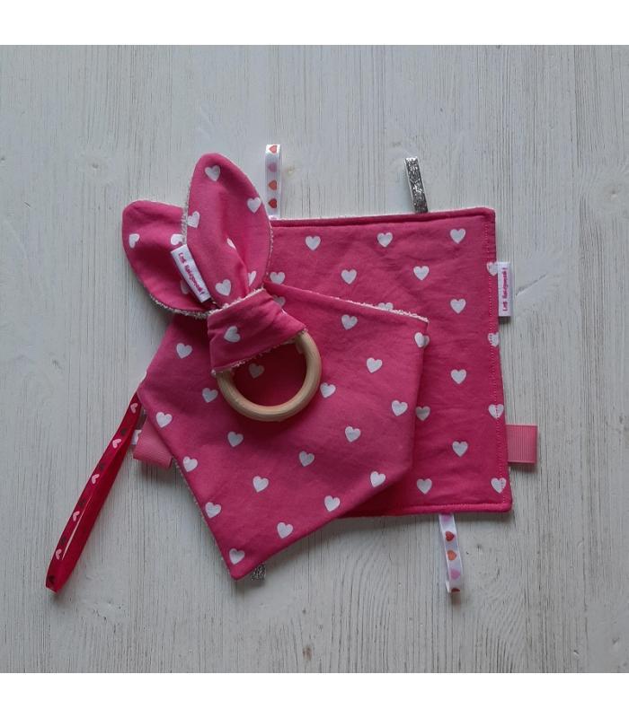 Kraamset Roze Hartjes
