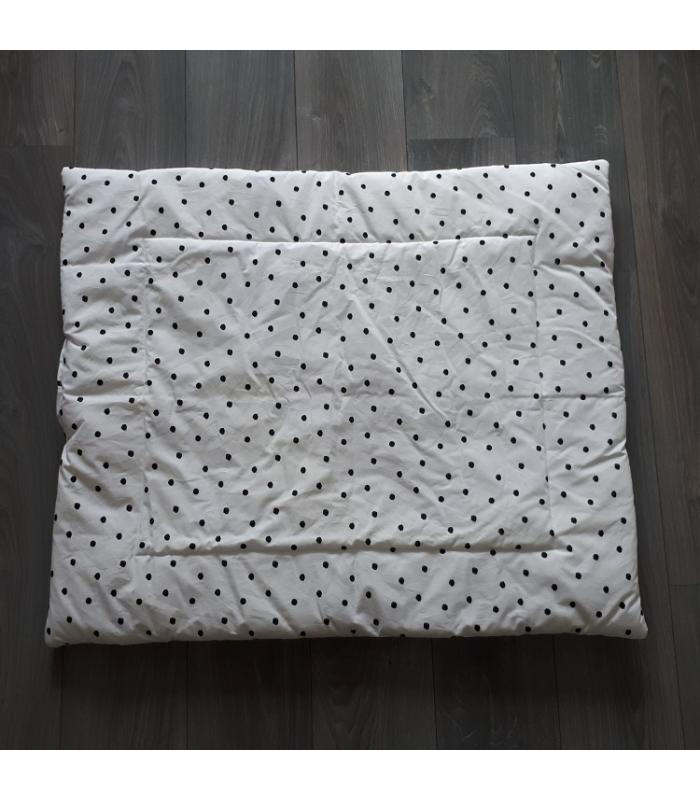 Boxkleed Wit met zwarte stippen