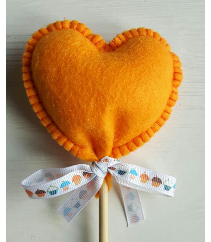 Hart stok oranje