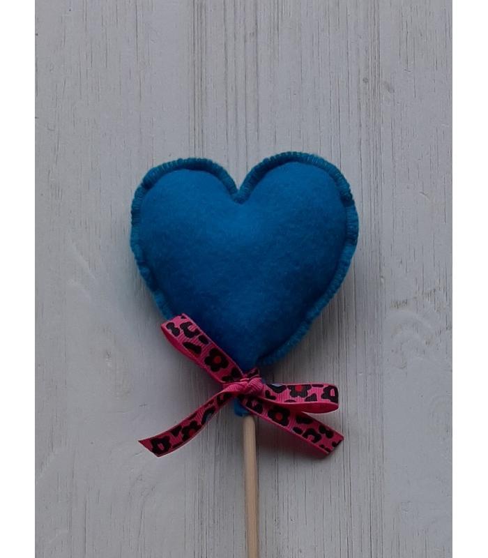 Hart stok Blauw 1