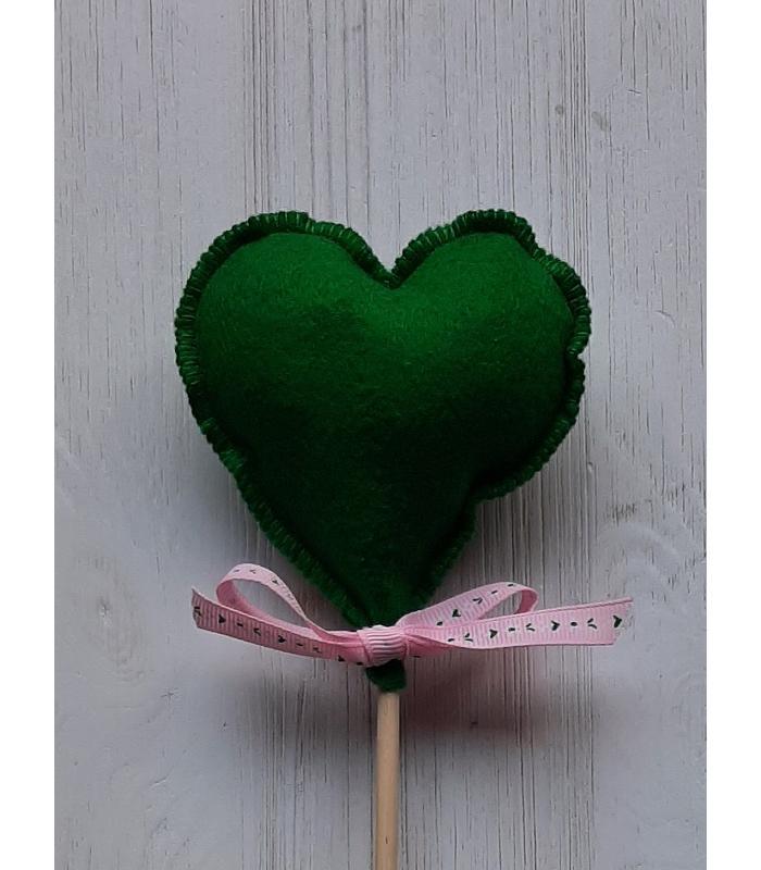 Hart stok Donker Groen 1