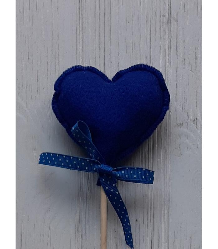 Hart stok Donker blauw