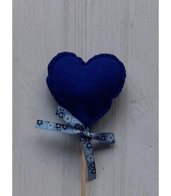Hart stok Donker blauw 1