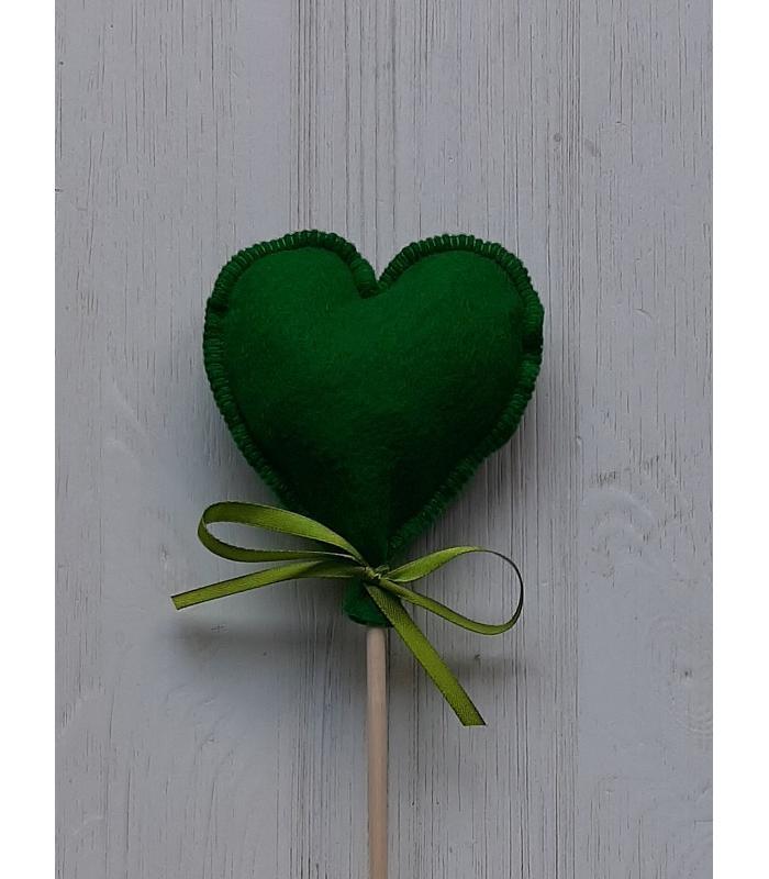 Hart stok Donker Groen