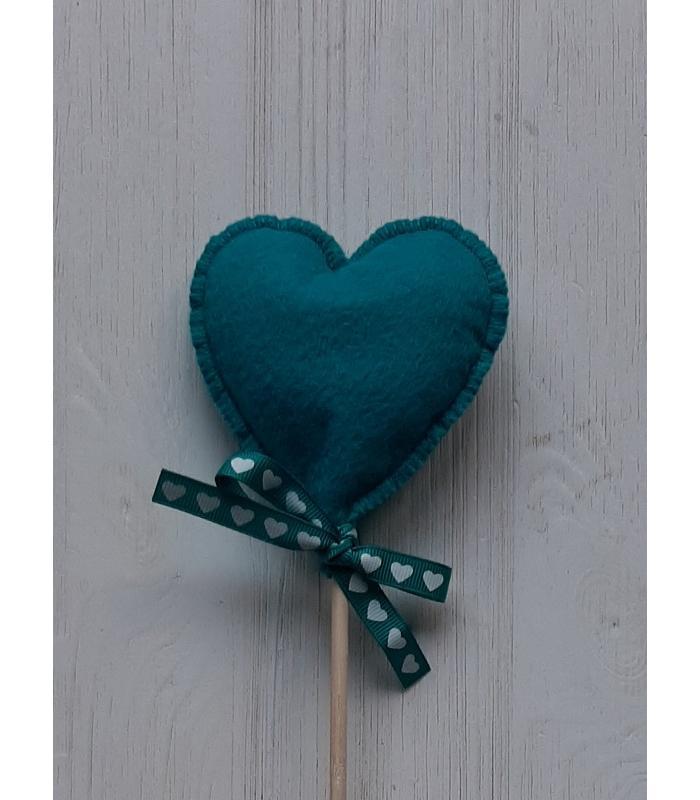Hart stok Donker Turquoise