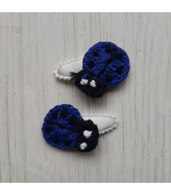 Haarknipjes Donker blauwe lieveheersbeestje