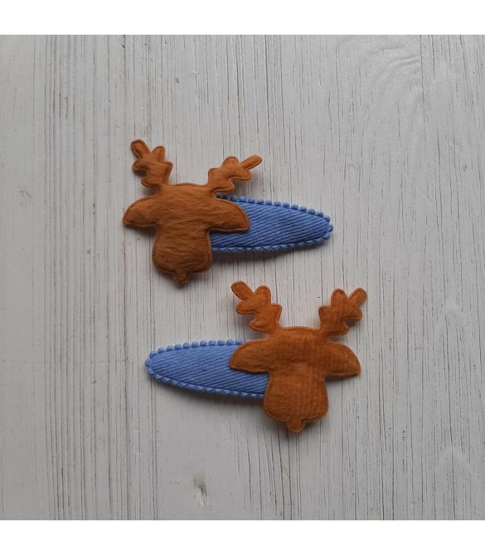 Haarknipjes Eland licht blauw