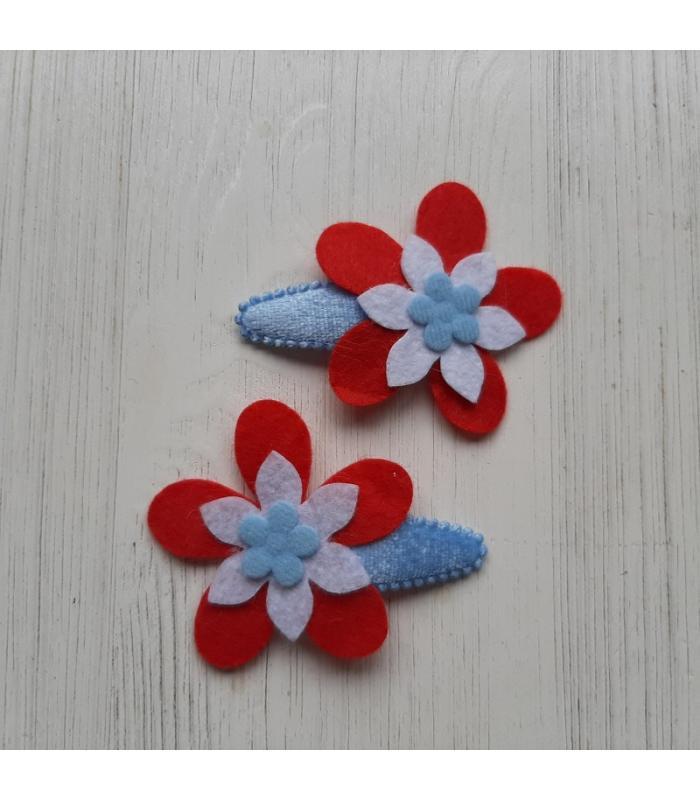 Haarknipjes Rood-Wit-Blauw