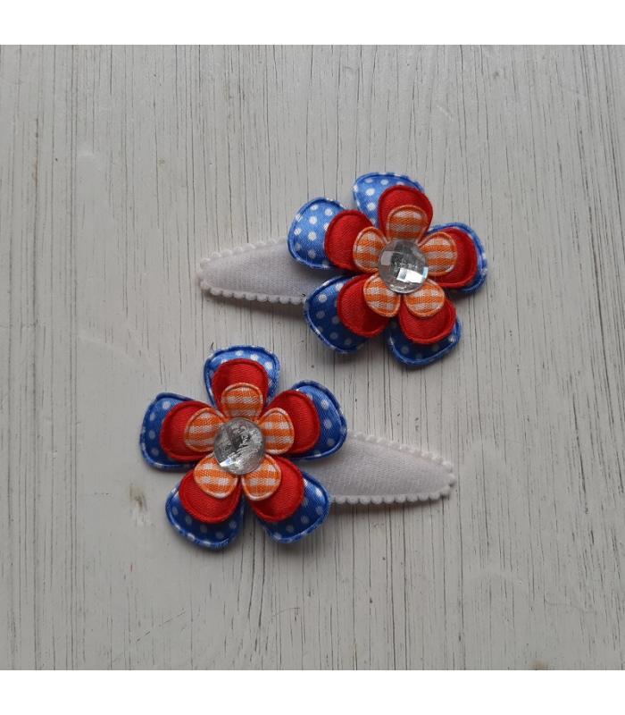 Haarknipjes Hollands blauw stip
