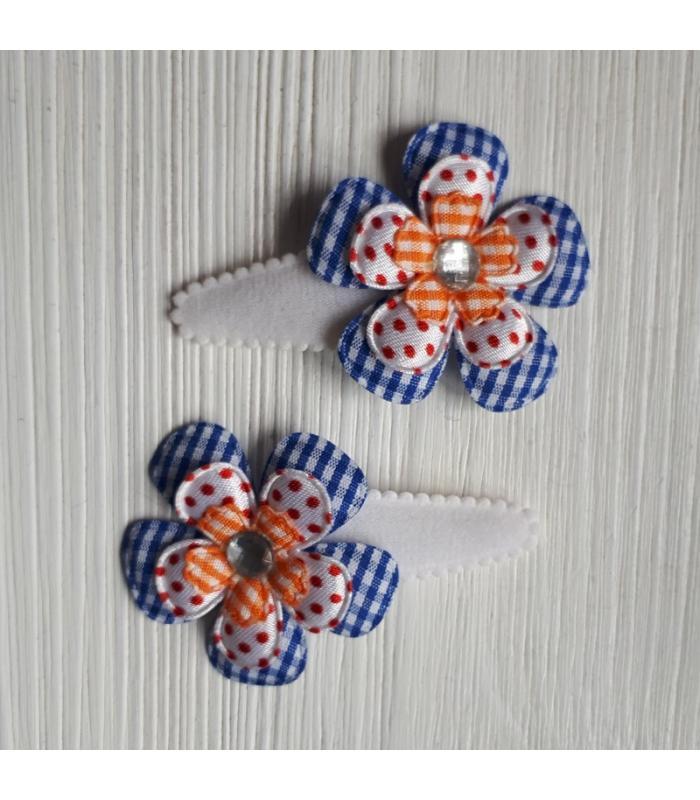 Haarknipjes Hollands Rood wit blauw
