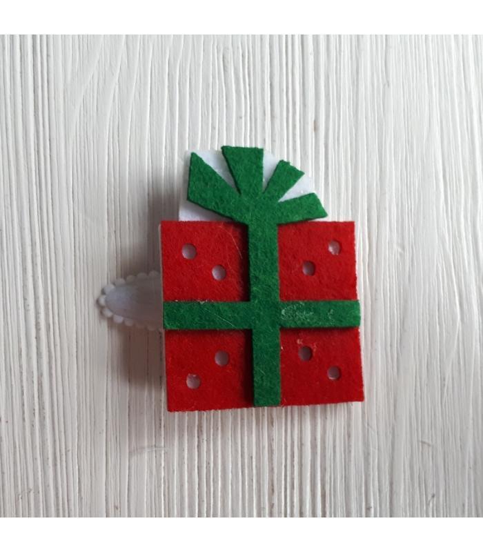 Haarknipje Cadeau zwart