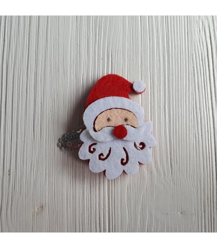 Haarknipje Kerstman zwart
