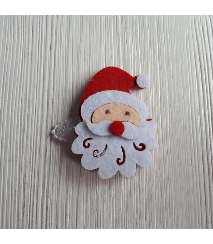 Haarknipje Kerstman wit
