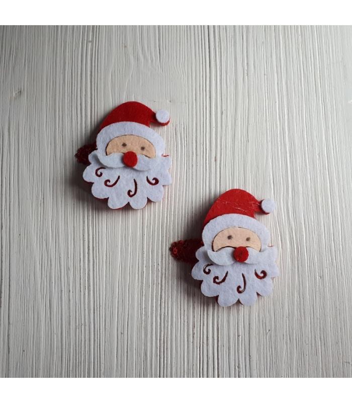 Haarknipjes Kerstman rood