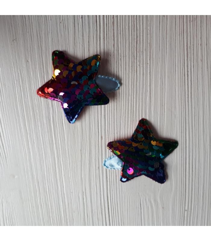 Haarknipjes Ster Regenboog