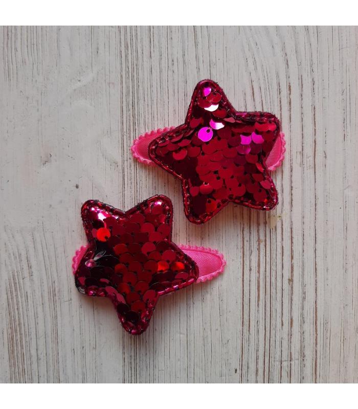 Haarknipjes Ster Donker Roze