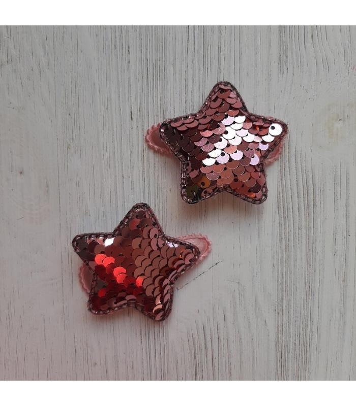 Haarknipjes Ster Licht roze