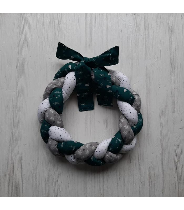 Kerstkrans Ster Groen/Wit