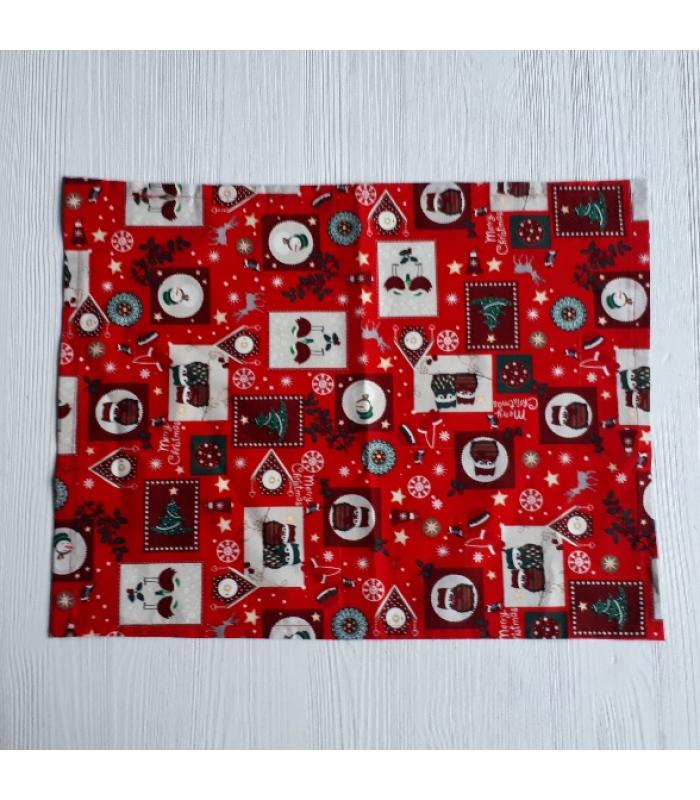 Placemats Kerst rood