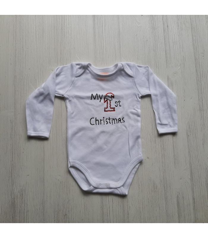 Romper Hotfix My 1st Christmas