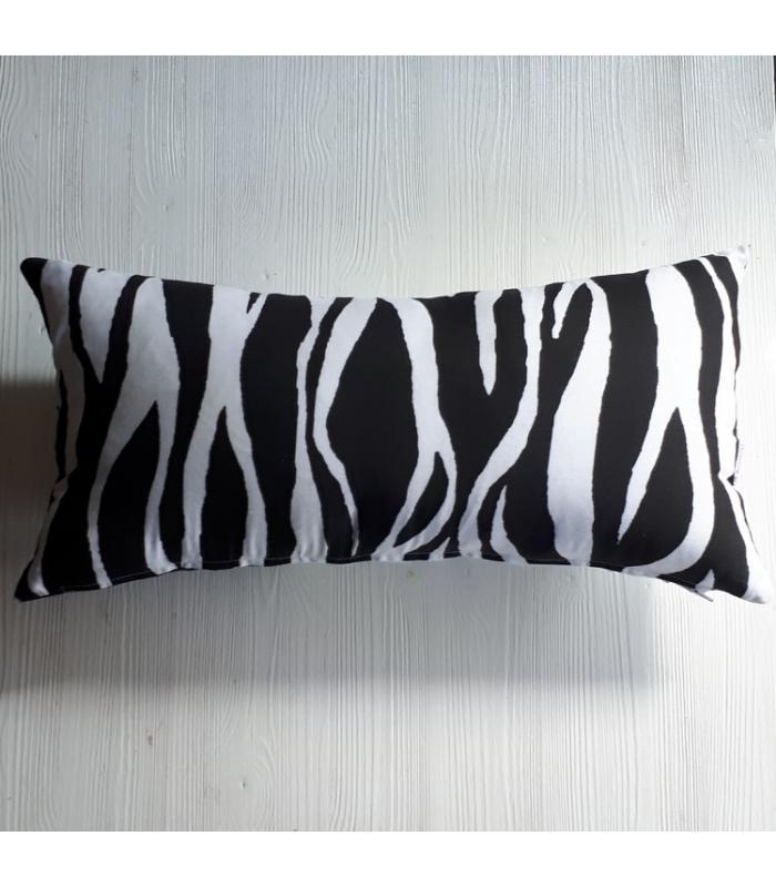 Kussenhoes Zebra wit zwart