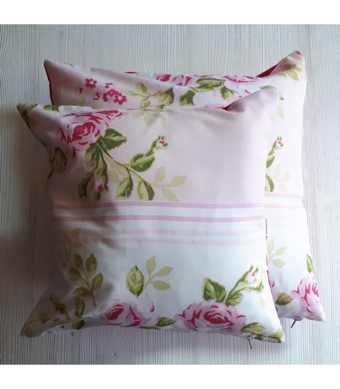 Kussenhoes set Roze bloem