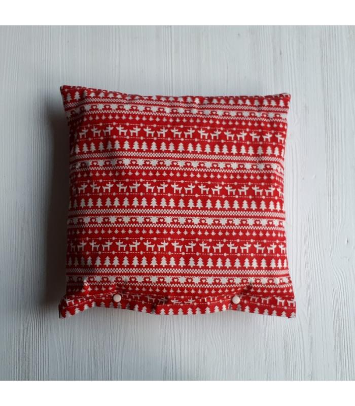 Kussenhoes Kerst Rendier rood