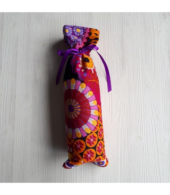 Kruikenzak Gekleurde figuren paars