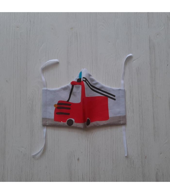 Mondkapje Man Brandweerwagen