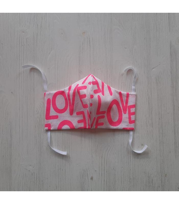 Mondkapje Vrouw Love