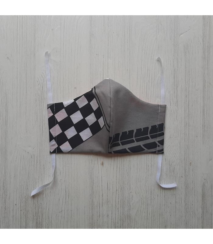 Mondkapje Man Raceauto 1
