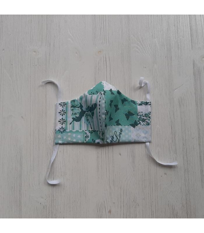 Mondkapje Vrouw Vlinder Mint 2