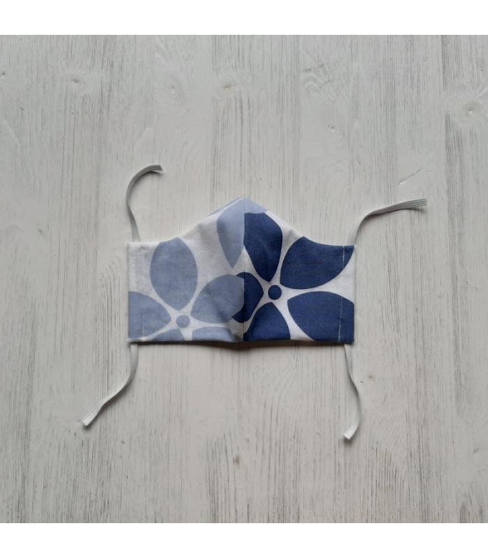 Mondkapje Vrouw Bloemen blauw 1
