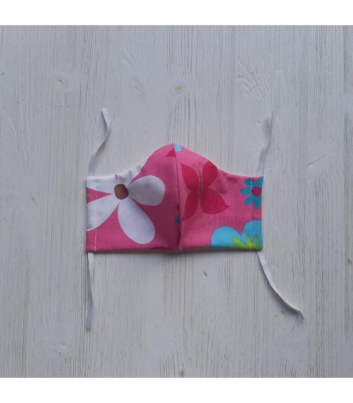 Mondkapje Vrouw Roze Bloemen 2