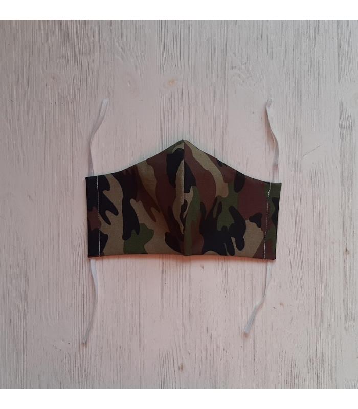 Mondkapje Man Camouflage groen