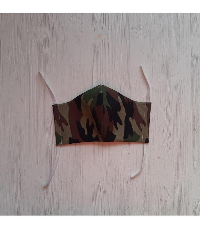 Mondkapje Vrouw Camouflage groen