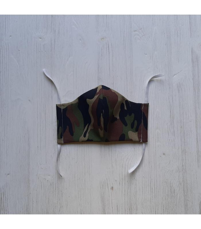 Mondkapje Vrouw Camouflage groen 1