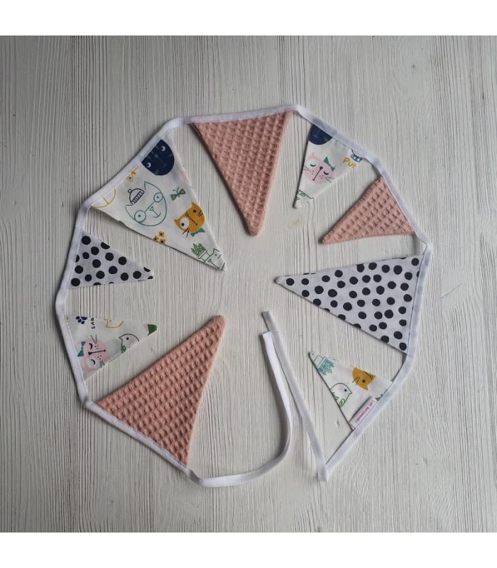 Mini vlaggetjeslijn Katjes / Roze