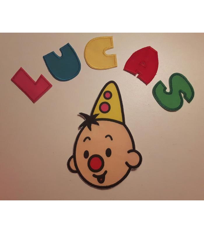 Strijkapplicatie Bumba naam Lucas