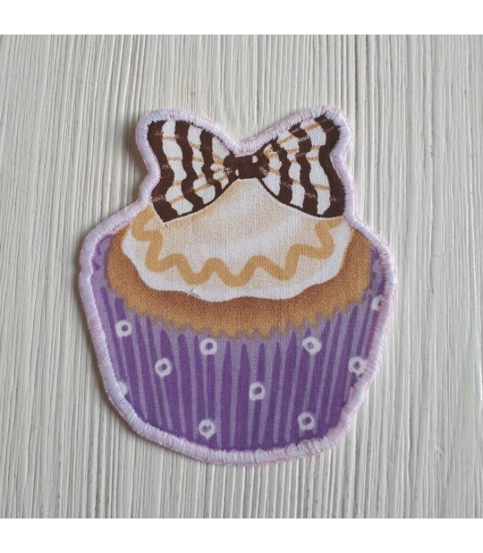 Strijkapplicatie Cup cake strik