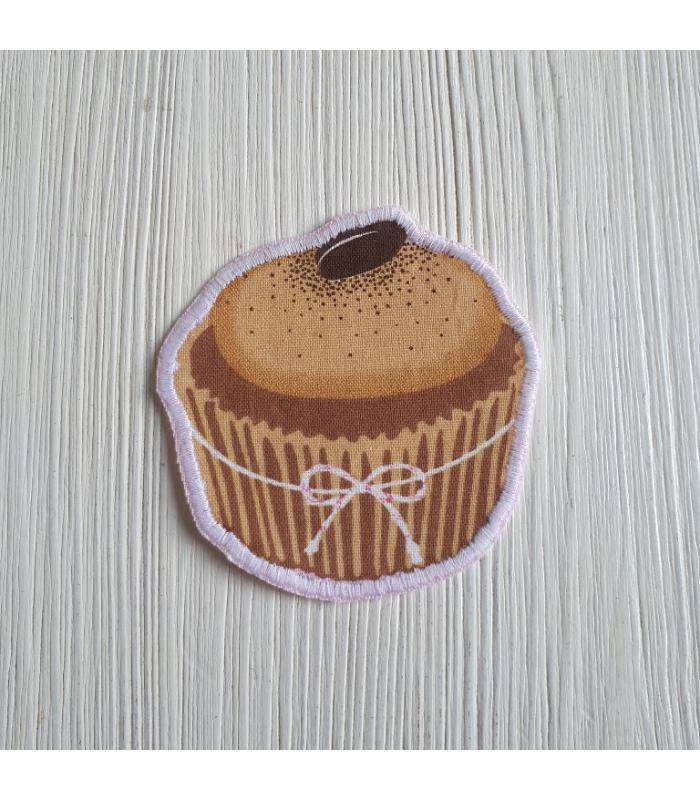 Strijkapplicatie Cup cake Koffieboon