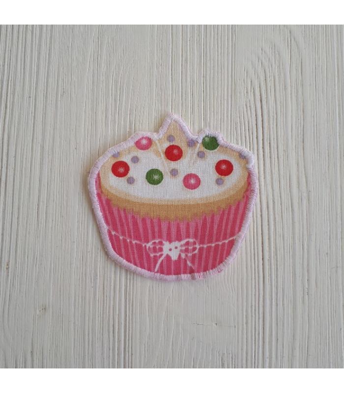 Strijkapplicatie Cup cake Smarties