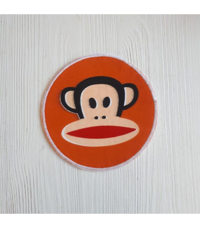 Strijkapplicatie Aap Oranje