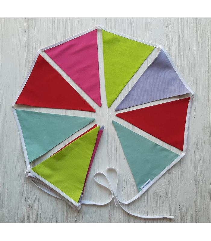Vlaggetjeslijn Effen kleuren