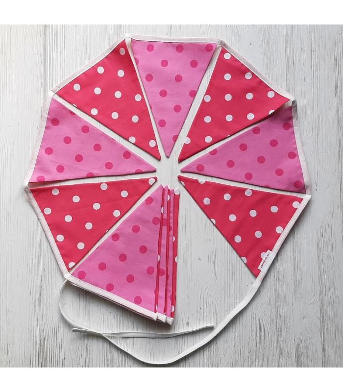 Vlaggetjeslijn Roze Stip
