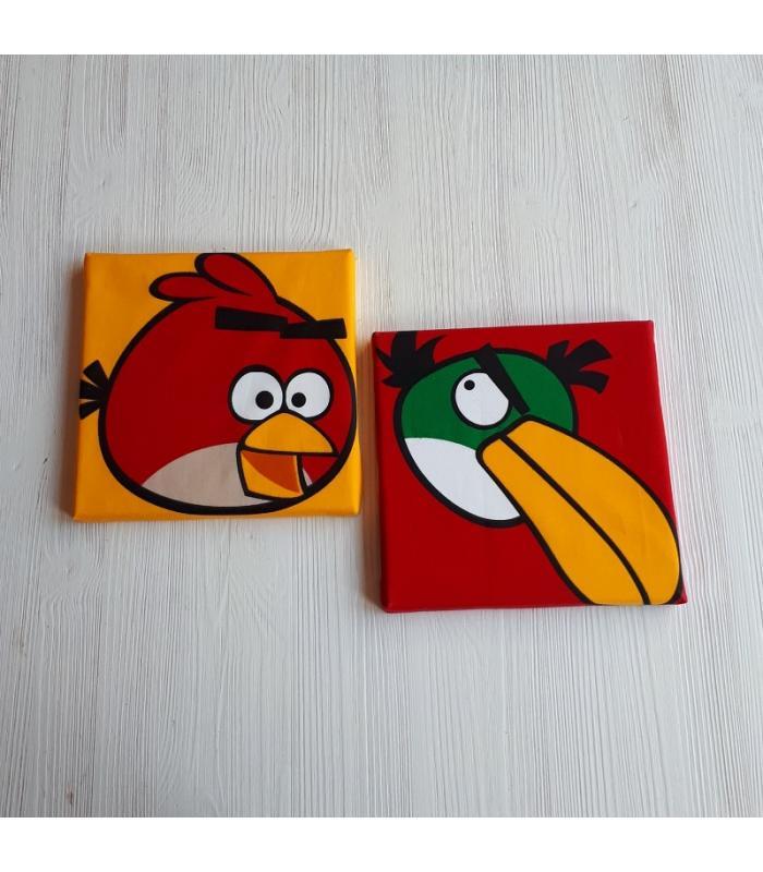Schilderij Angry Birds