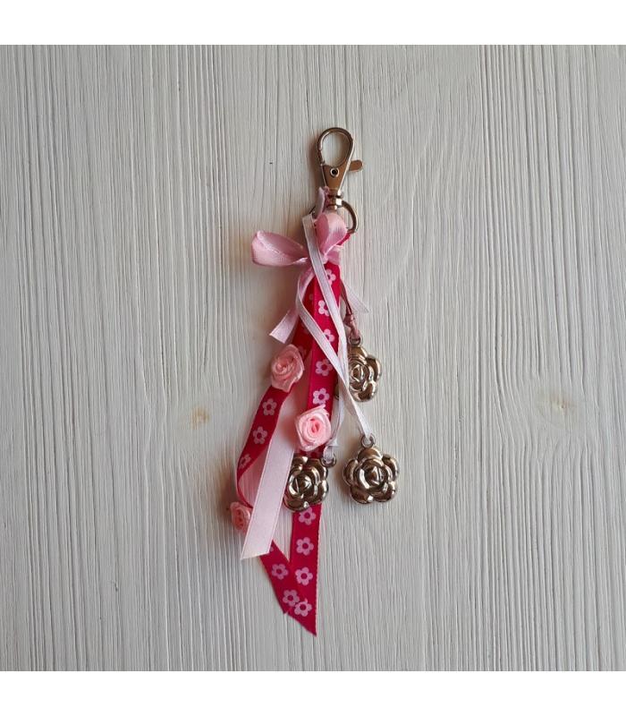 Tassenhanger Bloem roze