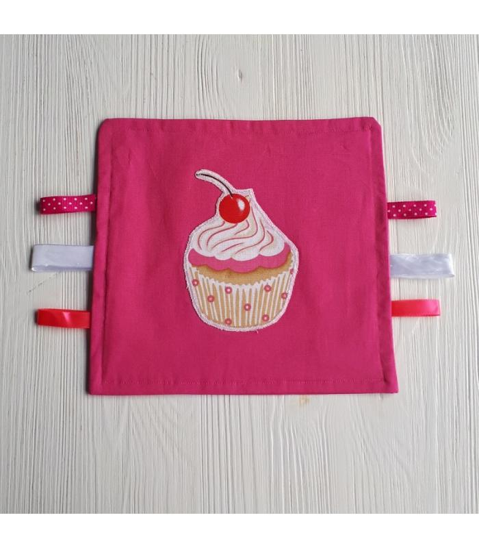 Tutteldoek Cupcake roze